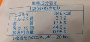 ハッピーターン67gの栄養成分表示