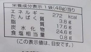納豆チップルの栄養成分表示