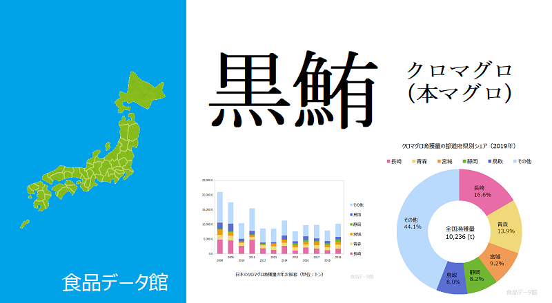 日本のクロマグロ漁獲量ランキングのアイキャッチ