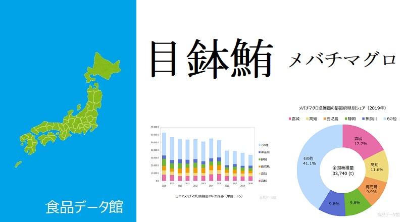 日本のメバチマグロ漁獲量ランキングのアイキャッチ