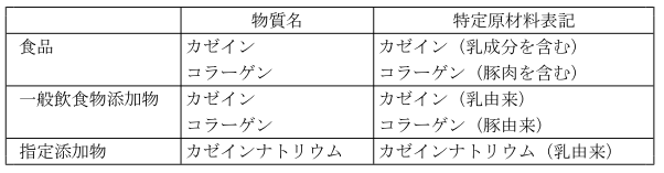 (E-13)一般飲食物添加物のアレルギー表示方法