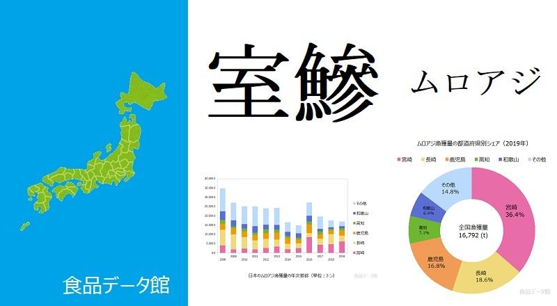 日本のムロアジ漁獲量ランキングのアイキャッチ