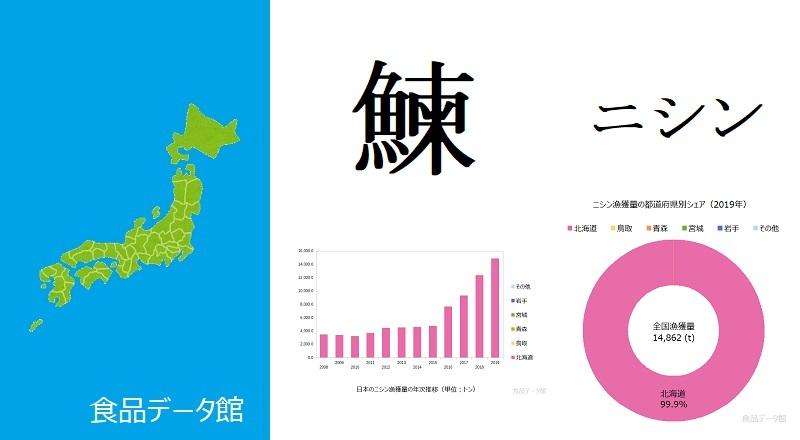 日本のニシン(鰊)漁獲量ランキングのアイキャッチ