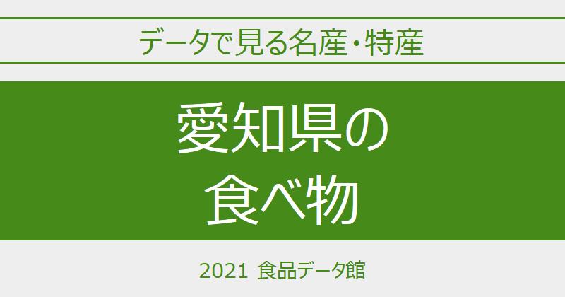 データで見る愛知県の名産特産のアイキャッチ