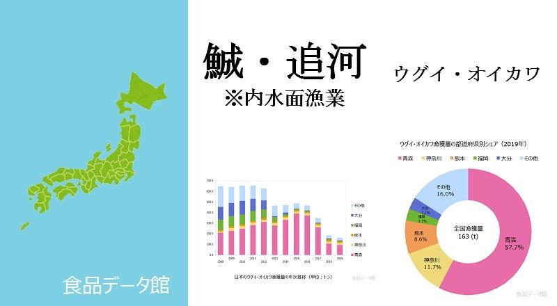 日本のウグイ・オイカワ漁獲量ランキングのアイキャッチ