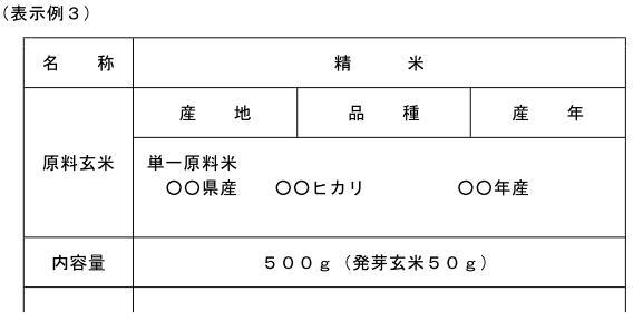 (玄米精米-13)表示例
