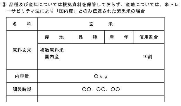 (玄米精米-14)表示例