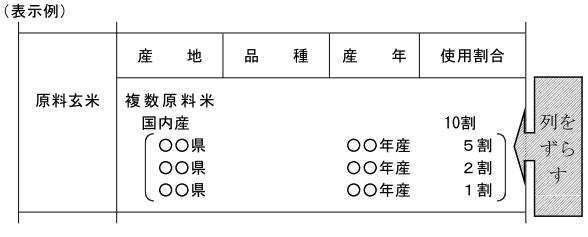 (玄米精米-26)表示例