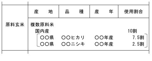 (玄米精米-30)表示例