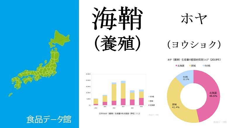 日本のホヤ養殖生産量ランキングのアイキャッチ