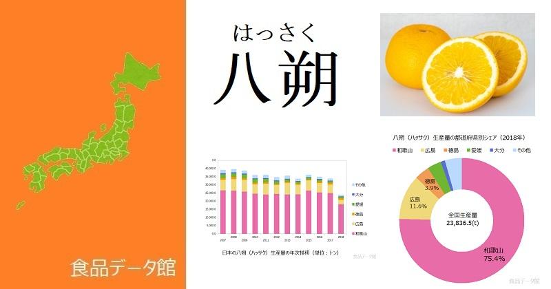 日本の八朔(ハッサク)生産量ランキングのアイキャッチ