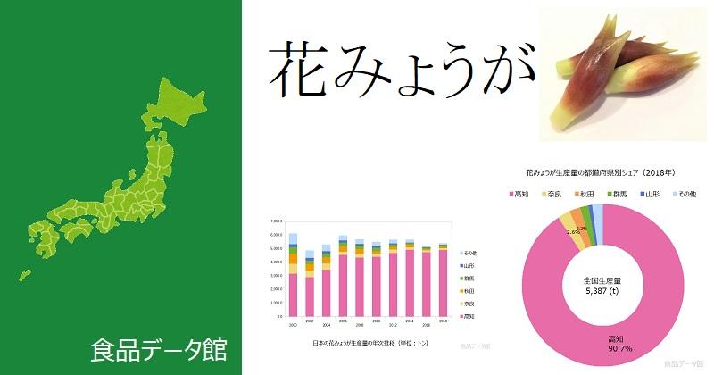日本の花みょうが生産量ランキングのアイキャッチ