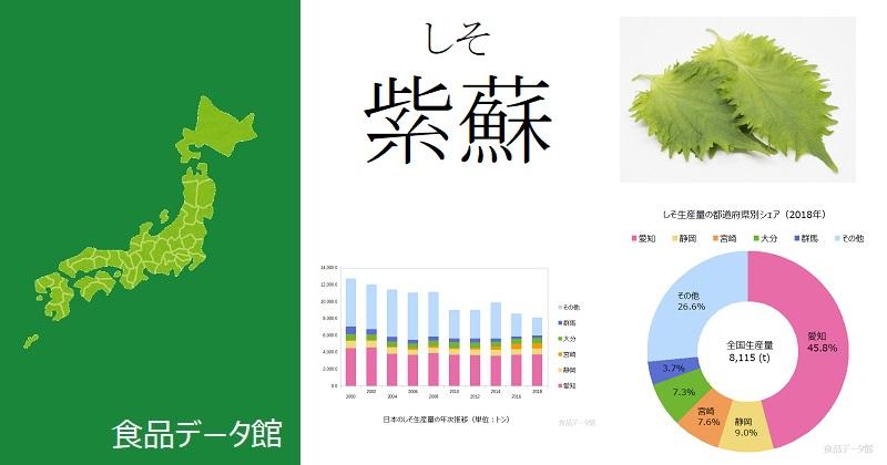 日本のシソ(紫蘇)生産量ランキングのアイキャッチ