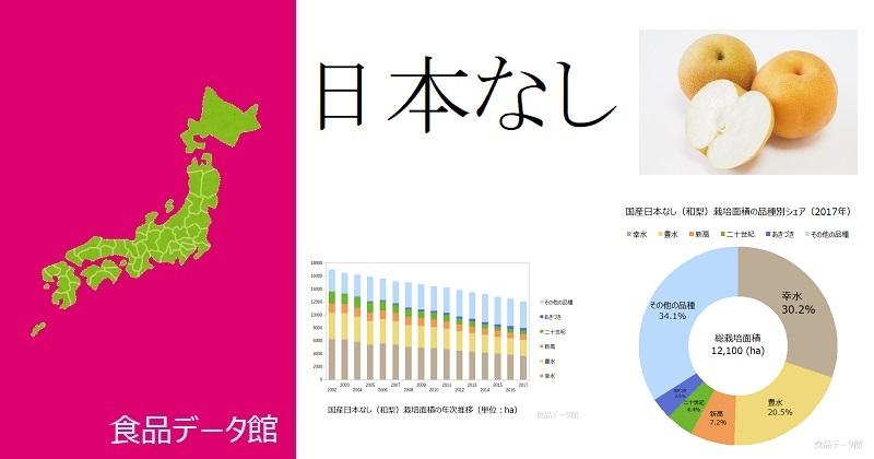 日本の品種別日本なし(和梨)栽培面積ランキングのアイキャッチ