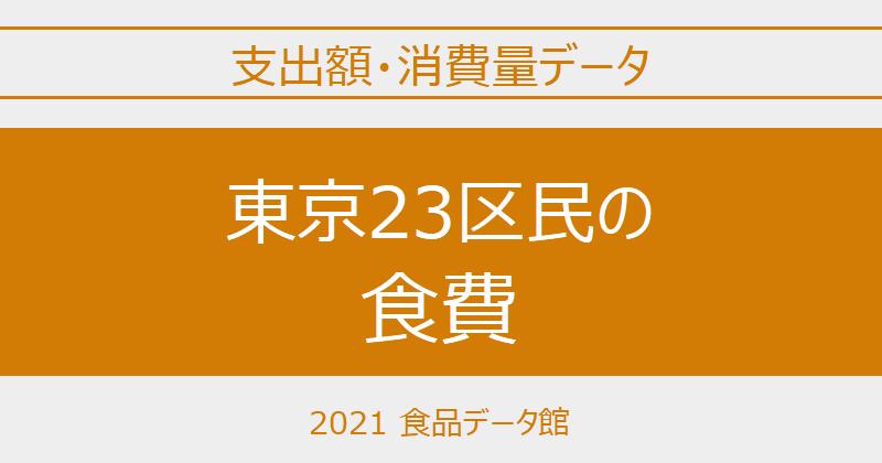 東京23区(東京都)の品目別食費一覧 ※世帯当たり支出額・消費量のアイキャッチ