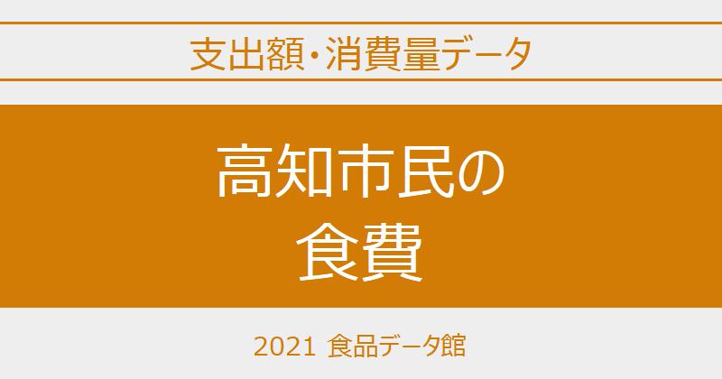 高知市(高知県)の品目別食費一覧 ※世帯当たり支出額・消費量のアイキャッチ
