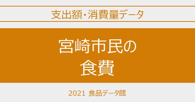 宮崎市(宮崎県)の品目別食費一覧 ※世帯当たり支出額・消費量のアイキャッチ